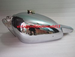 Brand New Dot Trials Chromed Petrol Tank 1953 With Brass Cap And Tap