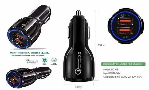 Qualcomm QC 3.0 6A Dual USB Car Charger