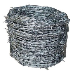 Galvanized Mild Steel Barbed Wire Fencing, Material Grade: Fe550