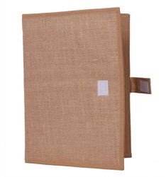 Beige Colour Corporate Jute Folder
