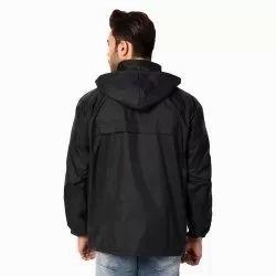 Black Hipora Windbreaker Jacket, Size: L