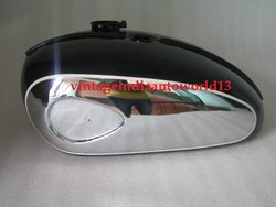 Brand New Bsa A65 Thunderbolt 2 Gallon Chrome And Black Painted Fuel Tank 1968-69 Us Specifications