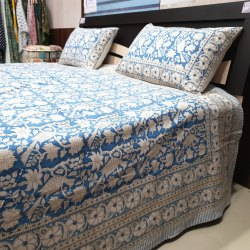 Hand Block Printed Double Bedsheets