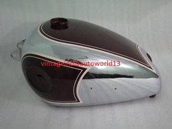 Brand New Bsa B31 B33 Plunger Cherry Paint Chrome Plated Petrol Fuel Gas Tank