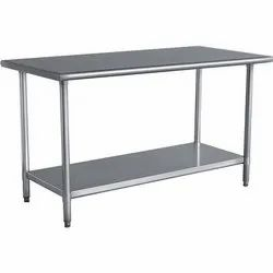 BSI Polished Stainless Steel Work Table, for Restaurant