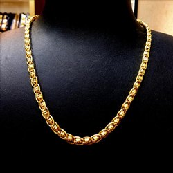 22 Kt Party Wear Gold Chain For Gents, Approx, 27.00 Gm, Packaging Type: Box