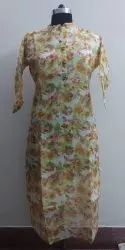 Designer Kota Silk Printed Kurti