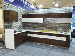 Wooden L Shape modular kitchen, Work Provided: Wood Work & Furniture