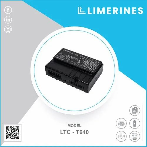 Limerines Black Mini GPS Vehicle Tracker, Model Number/Name: Ltc - T640, Yes