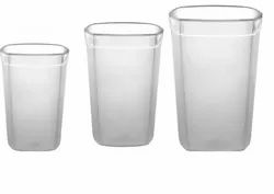 Poly Carbonate Square Frosted Glasses