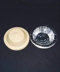 Round Paper Silver Disposable Dona, Size: 6 inch