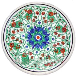 White Marble Coffee Center Table Top Inlay Home Art