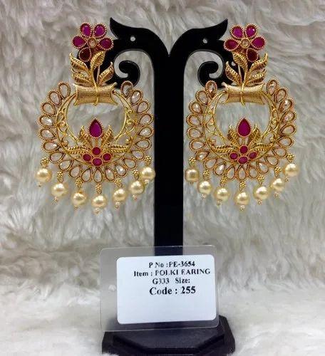 43e162de3 Designer Polki Earring - Polki Earring Manufacturer from Mumbai