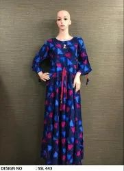 Rayon Print Gown