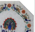 Semi Precious Stone Inlay Art Work Marble Table Top Home Decor