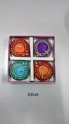 Earthen Diyaz Wax Filled (set Of 4)