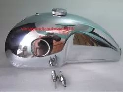 New Benelli Mojave Cafe Racer Chrome Petrol Tank With Cap And Tap(Die Handmaking, Guaranteed Piece)