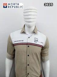 Collar Neck Plain, Check Mens Casual Shirt