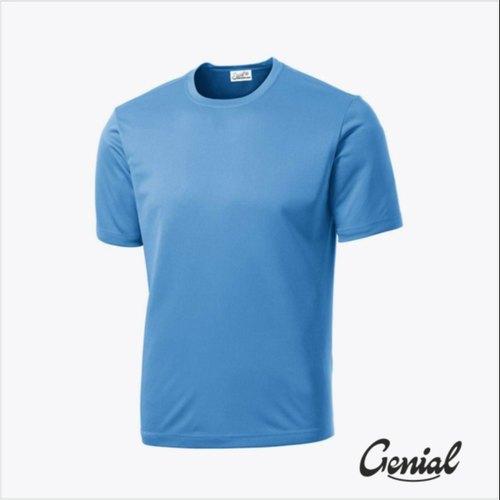 Polyester Half Sleeves Plain Dri Fit T-shirt