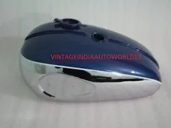 New Bsa A65 Thunderbolt Blue Painted Chrome Petrol Tank