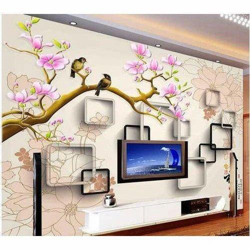Vinyl Modern 3d Birds Wallpaper For, Wallpaper For Living Room Modern