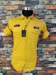 Plain Cotton Mens Cargo Shirt
