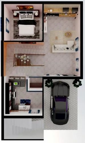 Manufacturing Firm Architecture Industry 3d And 2d Designes, Sanath Nagar