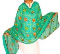 Indian Phulkari Dupatta - Nazneen Dupatta - Traditional Chunni - Gift - Embroidered Punjabi Dupatta
