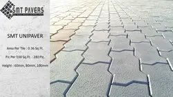 Smt Pavers Zig Zag Concrete Paver Block, For Flooring, Thickness: 80 Mm