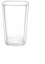Poly Carbonate Square Clear Glasses