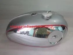 New Bsa A65 Thunderbolt,Lightning, Royal Star Silver Painted Chrome Petrol Tank