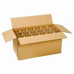 Kraft Paper 1-5 Kg Partition Corrugated Box, For Gift & Crafts, 4-6 mm