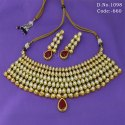 Traditional Vilandi Kundan Bridal Necklace Set