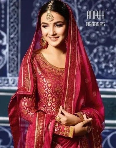 566d84fbb9 Salwar Suits - Banarasi Silk Dress Material Manufacturer from Surat