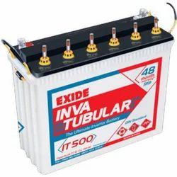 Lead Acid Battery Exide IT500 Inva Tubular Battery, Size/Dimension: 500x187x416 mm, 12 V