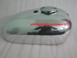 New Bsa A65 Spitfire Hornet 2 Gallon Aluminum Gas Fuel Tank With Petrol Cap