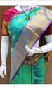 Fancy People Wedding Ramer Green Kanchipuram Silk Saree, 6.3 M (with Blouse Piece)