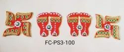 Acrylic Laxmi Feet And Swastik (FC-PS3)