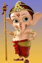 Kids School Cartoon Vinayagar Tile
