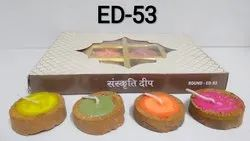 Katori Diya Set (set Of 12) (Round)