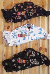 Cotton Full Sleeve Mens Printed Shirts