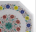 Marble Coffee Table Top Pietradura Inlay Work Patio Garden Decor