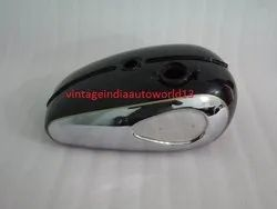 New Bsa A65 2 Gallon Black Painted Chrome Petrol Tank 1968-69 Us Specification