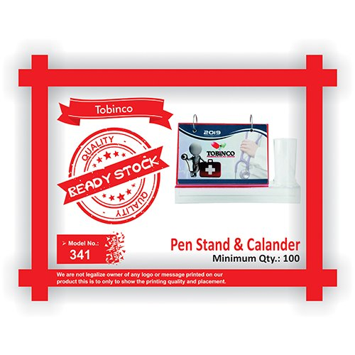 Transparent Acrylic 341 Tobinco Pen Stand and Calander