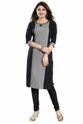 Simple and Sobar Crepe Kurti