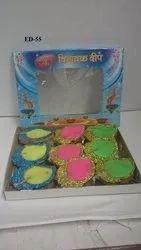 Mango Diyas (set Of 9)