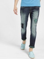 Denim RIPPED Rugged Men Jeans