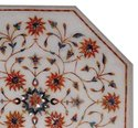 White Color Beautiful Decorative Marble Inlay Coffee Table Top