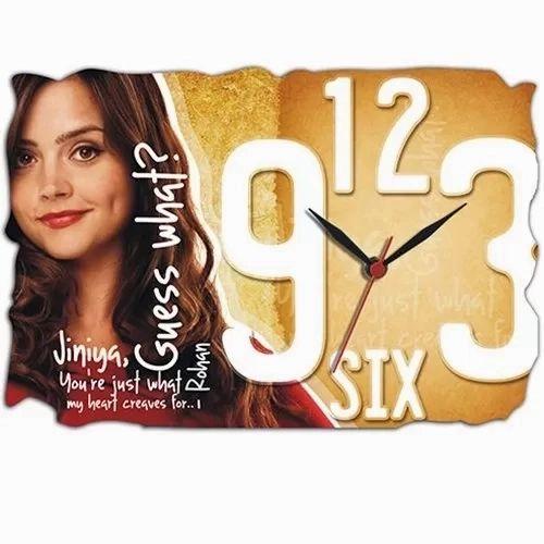 Wooden Clock Personalized Clocks Rs 400 Piece Shree Rani Sati Digital Id 20875844873