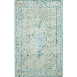 Jaipur Hand Knotted Wool Blue Colour Carpet and Rug